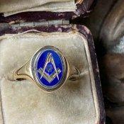 c.1985 9KYG Freemaison Ring(1985年 9KYG フリーメイソン)