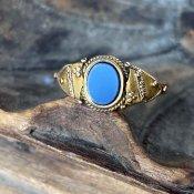 c1927-28 15KYG Signet Ring(シグネットリング)Agate