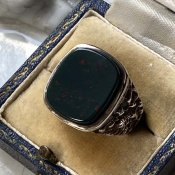 Vintage Silver Signet Ring(ヴィンテージ シグネットリング)Bloodstone