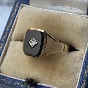 c1984 9KYG Onix / Diamond Ring(オニキス ダイヤモンド リング)