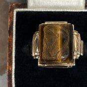 Vintage Signet Ring(ヴィンテージ シグネットリング)Roman Soldier Tiger Eye