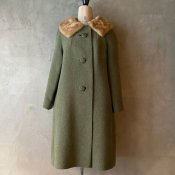 Vintage Fur Collar Green Coat(ヴィンテージ ファーカラー グリーンコート)