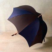 DiCesare Designs (ディチェザレデザイン) 雨傘 Rhythm 2TONE Navy&Dark Brown