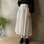 VINCENT JALBERT Smock Skirt(ヴィンセント ジャルベール スモックスカート)White