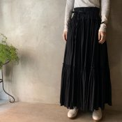 VINCENT JALBERT Double Smock Skirt(ヴィンセント ジャルベール  ダブルスモックスカート)Black