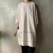 VINCENT JALBERT Pullover Dress - Embroidery - (ヴィンセント ジャルベール 刺繍 プルオーバードレス)Natural
