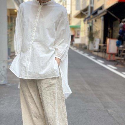ikkuna/suzuki takayuki peasant shirt(スズキタカユキ ペザントシャツ)White