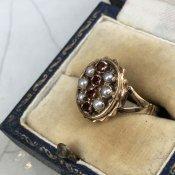 1920's 9K Garnet Pearl Ring(ガーネット パール リング)