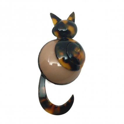 <img class='new_mark_img1' src='https://img.shop-pro.jp/img/new/icons20.gif' style='border:none;display:inline;margin:0px;padding:0px;width:auto;' />【30%OFF】Cilea PARIS Brown Cat Brooch(シレアパリ ブラウン ネコ ブローチ)