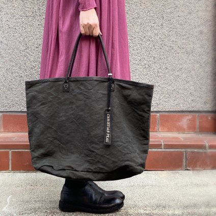 CHRISTIAN PEAU CP LP TOTE (クリスチャン ポー トートバッグ)LINEN BLACK