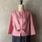 Vintage Pink Bow Blouse(ヴィンテージ ピンク リボン付き ブラウス)