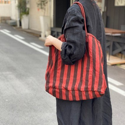 CHRISTIAN PEAU CP LP TOTE (クリスチャン ポー トートバッグ)STRIPE LINEN MAGREB
