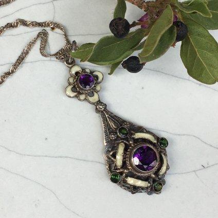 Edwardian Silver Amethyst Necklace(エドワーディアン シルバー アメシスト ネックレス)