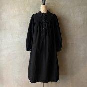 1930~40's Black Cotton Dress(1930〜40年代 ブラック コットンワンピース)後染め