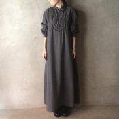 1910~30's Embroidered Cotton Dress(1910〜30年代 刺繍 コットンワンピース)後染め