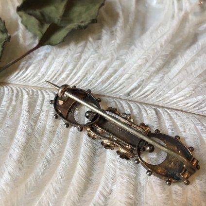 Victorian Silver Gilt Brooch(ヴィクトリアン シルバー ギルト ブローチ)