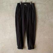 suzuki takayuki tapered pants(スズキタカユキ テーパードパンツ)Black