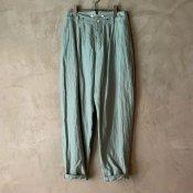 suzuki takayuki tapered pants(スズキタカユキ テーパードパンツ)Spray green
