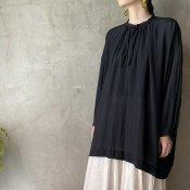 suzuki takayuki slip-on blouse(スズキタカユキ スリッポンブラウス)Black