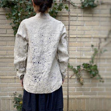 HALLELUJAH 8, Victorian Chemise teint(ハレルヤ ヴィクトリア時代 染めシャツ)Stone Flax