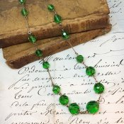1920~30's Vintage Glass Necklace(1920〜30年代 ヴィンテージ ガラスネックレス)