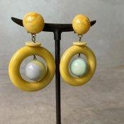 1960's French Bakelite Hoop Earrings(1960年代 フランス ベークライト フープ イヤリング)
