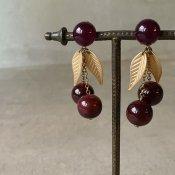 1960's French Lucite Cherry Earrings(1960年代 フランス ルーサイト さくらんぼ イヤリング)