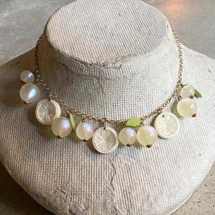 1960's French White Citrus Necklace(1960年代 フランス ホワイトシトラス ネックレス)
