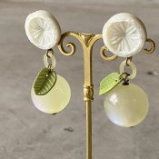 1960's French White Citrus Earrings(1960年代 フランス ホワイトシトラス イヤリング)