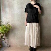 suzuki takayuki linen t-shirt(スズキタカユキ リネンTシャツ)Black/Unisex