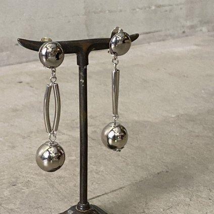 1960's French Metal Ball Earrings(1960年代 フランス メタルボール イヤリング)Dead Stock