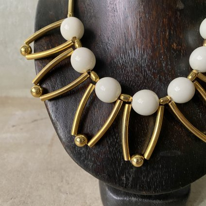1960's French Plastic ball Necklace(1960年代 フランス プラスチック ボールネックレス)DEAD STOCK