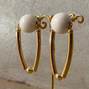 1960's French Plastic Ball Earrings(1960年代 フランス プラスチック ボール ピアス)DEAD STOCK