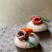 1950's Italian Raffia White Earrings(1950年代 イタリア ホワイトラフィア イヤリング)DEAD STOCK