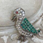 1930's Rene Mittler Paste Brooch(1930年代 ルネ・ミットレー ペーストガラス ブローチ)鳥