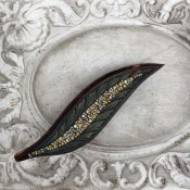 1930's Auguste Bonaz Galalith Paste Brooch(1930年代 オーギュスト・ボナーズ ガラリス ペーストガラス ブローチ)