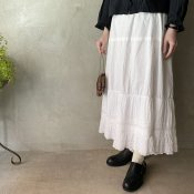 <img class='new_mark_img1' src='https://img.shop-pro.jp/img/new/icons13.gif' style='border:none;display:inline;margin:0px;padding:0px;width:auto;' />Antique Cotton Hem Lace Skirt(アンティークコットン ヘムレース スカート)