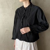Antique Cotton Front Pin Tuck Lace Blouse(アンティークコットン フロントピンタックレースブラウス)