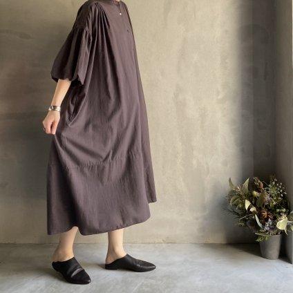 ikkuna/suzuki takayuki balloon-sleeve dress(イクナ/スズキタカユキ バルーンスリーブドレス)Charcoal Gray