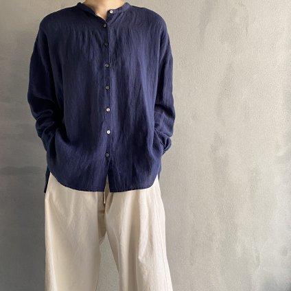 ikkuna/suzuki takayuki gathered blouse(イクナ/スズキタカユキ ギャザードブラウス)Navy