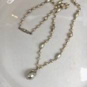 1940's France Glass Pearl Necklace(1940年代 フランス ガラスパール ネックレス)