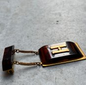 <img class='new_mark_img1' src='https://img.shop-pro.jp/img/new/icons13.gif' style='border:none;display:inline;margin:0px;padding:0px;width:auto;' />1960's Metal Resin Brooch(1960年代 メタル 樹脂 ブローチ)H