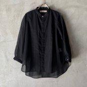 <img class='new_mark_img1' src='https://img.shop-pro.jp/img/new/icons13.gif' style='border:none;display:inline;margin:0px;padding:0px;width:auto;' />suzuki takayuki organdy shirt(スズキタカユキ オーガンジーシャツ)Black