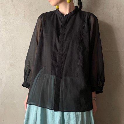 suzuki takayuki organdy shirt(スズキタカユキ オーガンジーシャツ)Nude