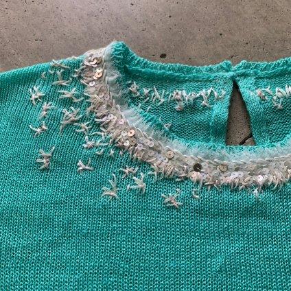 suzuki takayuki embroidered pullover(スズキタカユキ エンブロイダード プルオーバー)Spray green