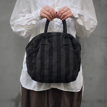 【別注】CHRISTIAN PEAU CP BG0930 (クリスチャン ポー トートバッグ)STRIPE LINEN BLACK