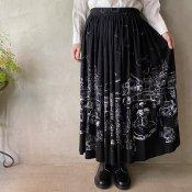 Vintage Panel Print Gather Skirt(ヴィンテージ パネルプリント ギャザースカート)