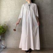 Antique Cotton Flare sleeve Long Dress(アンティーク コットン フレアスリーブ ロングワンピース)