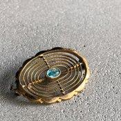 1920's Rolled Gold Glass Brooch(1920年代  金張り ガラス ブローチ)