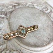 C.1900 Rolled Gold Glass Brooch(1900年頃  金張り ガラス ブローチ)